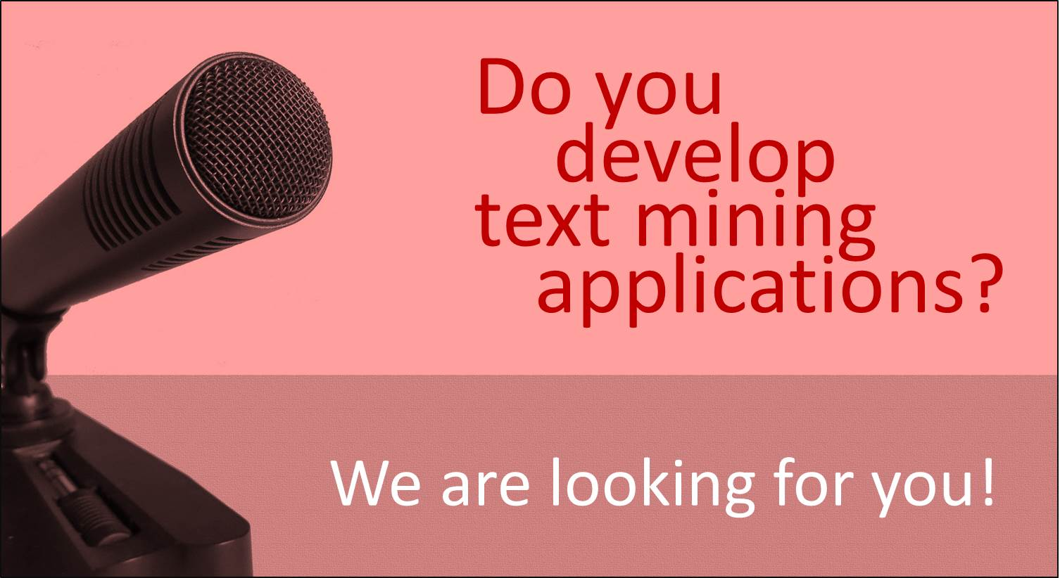 We are looking for developers of TDM-powered applications