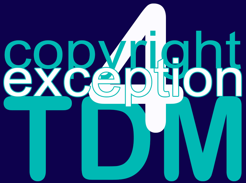 Copyright exception for TDM