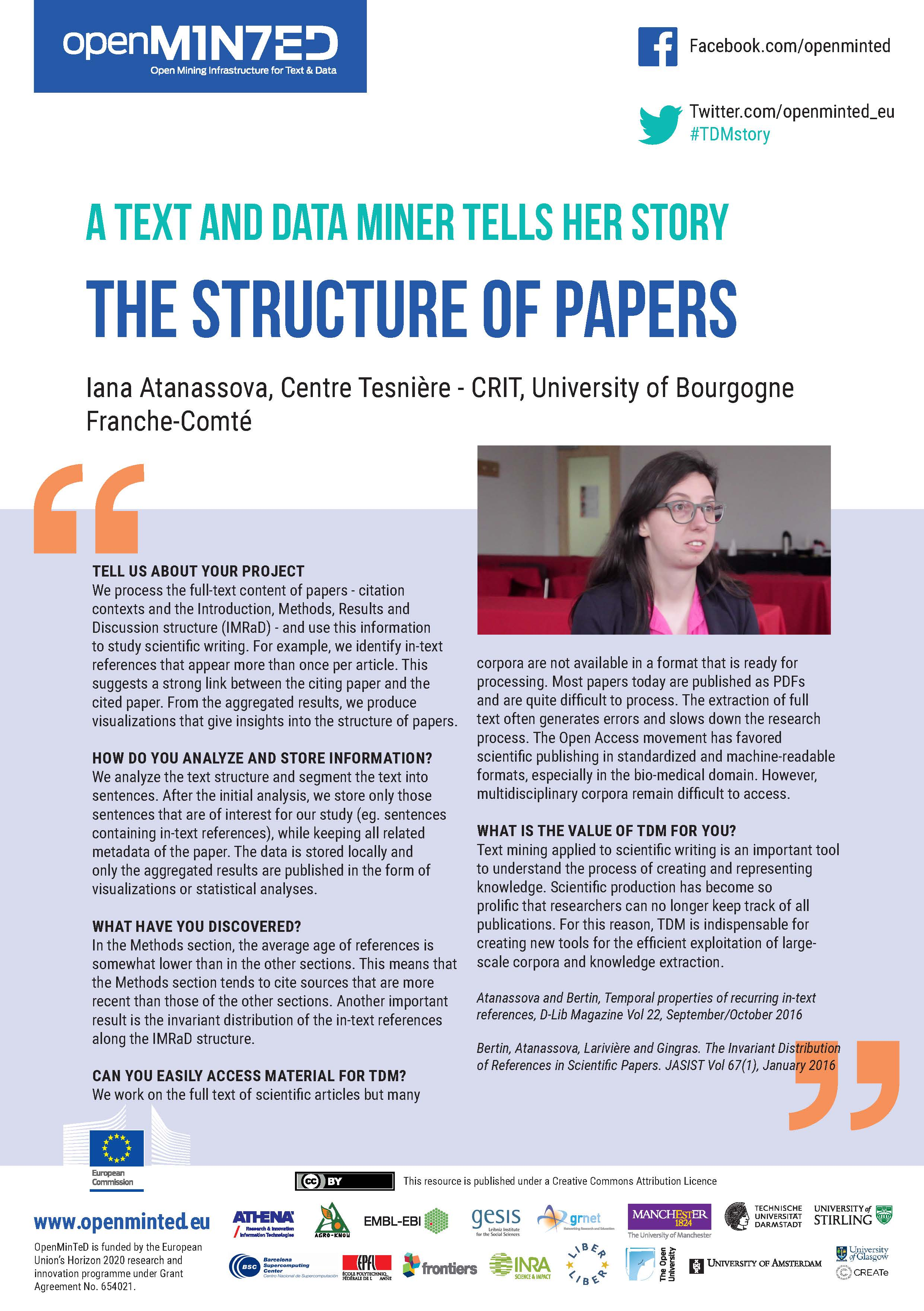 TDM Stories: The Structure of Papers
