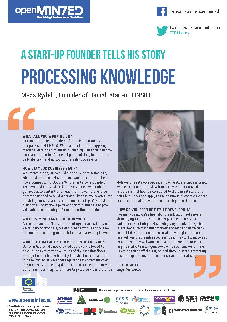 TDM Stories: A Start-Up Founder Talks About Processing Knowledge